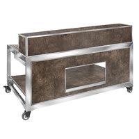 Eastern Tabletop HB6500W Hub Buffet 7-Piece Textured Laminate Foldaway Bar Kit