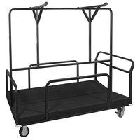 Eastern Tabletop ST5980 Hub Buffet 78 inch x 35 3/4 inch x 71 inch Black Coated Steel Table Frame Cart