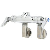 T&S B-0340-LN Wall Mounted Pantry Faucet Base with 4 inch Adjustable Centers, Rigid Outlet, and Eterna Cartridges