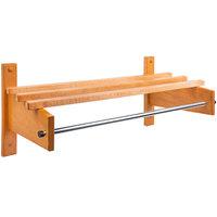 CSL TCOMB-3748L 38 inch Light Oak Hardwood Top Bars Wall Mount Coat Rack with 5/8 inch Metal Hanging Rod