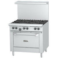 U.S. Range U36-6R Natural Gas 6 Burner 36 inch Range with Standard Oven - 230,000 BTU