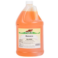 Fox's 1 Gallon Banana Slush Syrup - 4/Case
