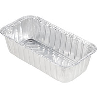 Durable Packaging 5100-35 2 lb. Foil Bread Loaf Pan - 500/Case