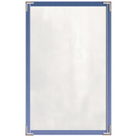H. Risch, Inc. TED Deluxe Sewn 8 1/2 inch x 14 inch 4 View Tinted Vinyl Menu Cover