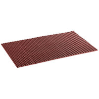 Choice 3' x 5' Red Rubber Straight Edge Grease-Resistant Anti-Fatigue Floor Mat, 3/4 inch Thick