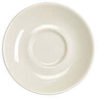 Homer Laughlin 28400 5 1/2 inch Ivory (American White) Kent China Saucer - 36/Case