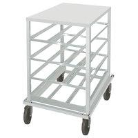Advance Tabco CR10-72 Spec Line #10 Aluminum Can Rack Mobile with Aluminum Top - Half Size