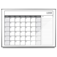 Luxor WB4836CAL 48 inch x 36 inch Wall-Mounted Magnetic Dry-Erase Monthly Calendar