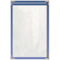 H. Risch, Inc. TES Deluxe Sewn 5 1/2 inch x 8 1/2 inch 2 View Tinted Vinyl Menu Cover