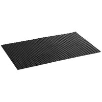 Lavex Janitorial 3' x 5' Black Rubber Straight Edge Anti-Fatigue Floor Mat - 3/4 inch Thick