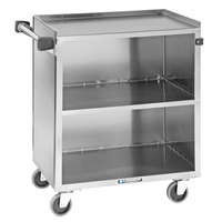 Lakeside 644 3 Shelf Stainless Steel Beverage Service Cart - 39 1/4 inch x 22 1/2 inch x 37 3/8 inch