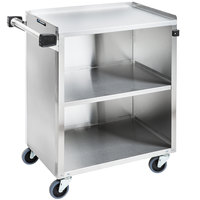 Lakeside 610 Stainless Steel Three Shelf Enclosed Utility Cart - 27 3/4 inch x 16 1/2 inch x 32 3/4 inch