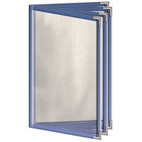 H. Risch, Inc. TEDD Deluxe Sewn 5 1/2 inch x 8 1/2 inch 8 View Tinted Vinyl Menu Cover