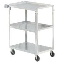 Vollrath 97121 Stainless Steel 3 Shelf Utility Cart - 30 1/2 inch x 18 1/2 inch x 32 inch