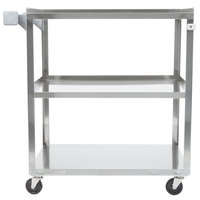 Vollrath 97121 Stainless Steel 3 Shelf Utility Cart - 30 1/2 inch x 18 1/2 inch x 32 inch