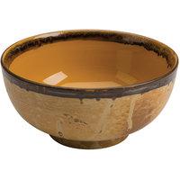 Homer Laughlin 106341842 Fresco Hues Goldenrod 38 oz. Small China Noodle Bowl - 12/Case