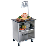 Lakeside 646 Heavy-Duty Stainless Steel Three Shelf Flat Top Utility Cart with Enclosed Base - 22 inch x 36 inch x 36 5/8 inch