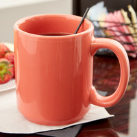 Tuxton BNM-1202 DuraTux 12 oz. Cinnebar China C-Handle Mug - 6/Pack