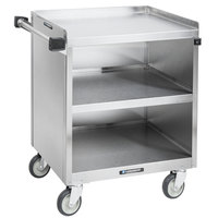 Lakeside 822 3 Shelf Heavy Duty Stainless Steel Utility Cart with Enclosed Base - 19 1/2 inch x 31 1/4 inch x 34 1/2 inch