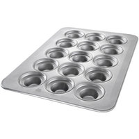 Chicago Metallic 45435 15 Cup Glazed Customizable Oversized Large Crown Muffin Pan - 17 7/8 inch x 25 7/8 inch