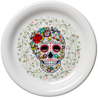 Homer Laughlin 146141823 Skull and Vine Sugar 6 3/4 inch Appetizer Plate - 12/Case