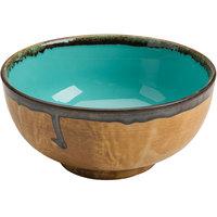 Homer Laughlin 106241841 Fresco Hues Robin's Egg Blue 56 oz. Large China Noodle Bowl - 6/Case
