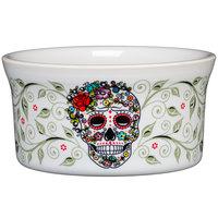 Homer Laughlin 56841823 Skull and Vine Sugar 8 oz. China Ramekin - 6/Case
