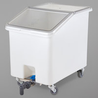 Cambro IBSD37148 37 Gallon / 590 Cup White Slant Top Soak and Brine Bucket with Flip Top