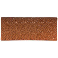 Hall China 49310ACOA 12 inch x 5 inch Hammered Copper Elevated Rectangular China Tray - 6/Case