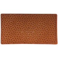 Hall China 49300ACOA 9 inch x 5 inch Hammered Copper Elevated Rectangular China Tray - 24/Case