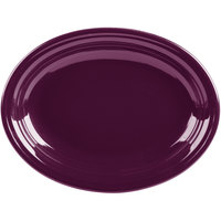 Homer Laughlin 457343 Fiesta Mulberry 11 5/8 inch x 8 7/8 inch Oval Medium China Platter - 12/Case