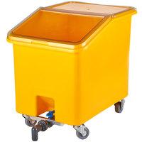 Cambro IBSD37229 37 Gallon / 590 Cup Yellow Slant Top Soak and Brine Bucket with Flip Top