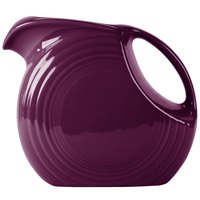 Homer Laughlin 484343 Fiesta Mulberry 2.1 Qt. Large Disc China Pitcher - 2/Case
