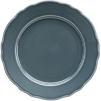 Homer Laughlin 54441914 Terrace Gray 9 inch China Plate - 24/Case