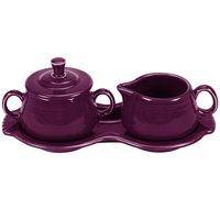 Fiesta Tableware from Steelite International HL821343 Mulberry China Sugar and Creamer Tray Set - 4/Case