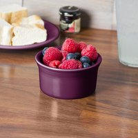 Homer Laughlin 568343 Fiesta Mulberry 8 oz. China Ramekin - 6/Case