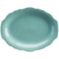 Homer Laughlin 52541915 Terrace Aqua 9 7/8 inch China Platter - 24/Case