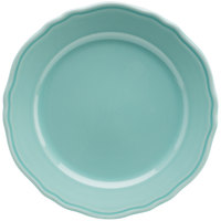 Homer Laughlin 54841915 Terrace Aqua 10 5/8 inch China Plate - 12/Case