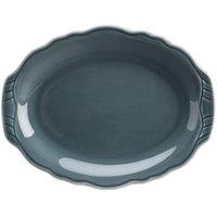 Homer Laughlin 52541914 Terrace Gray 9 7/8 inch China Platter - 24/Case