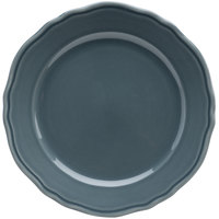Homer Laughlin 54841914 Terrace Gray 10 5/8 inch China Plate - 12/Case