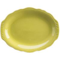 Homer Laughlin 52541913 Terrace Citrus 9 7/8 inch China Platter - 24/Case