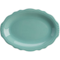 Homer Laughlin 52641915 Terrace Aqua 11 3/4 inch China Platter - 24/Case