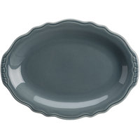 Homer Laughlin 52641914 Terrace Gray 11 3/4 inch China Platter - 24/Case