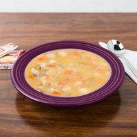 Homer Laughlin 451343 Fiesta Mulberry 13.25 oz. China Rim Soup Bowl - 12/Case