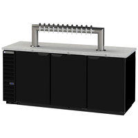 Beverage-Air DD78HC-1-B-12T Twelve Tap Kegerator Beer Dispenser - Black, (4) 1/2 Keg Capacity