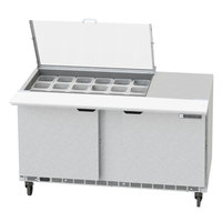 Beverage-Air SPED60HC-18M-4-CL Elite Series 60 inch 4 Drawer Mega Top Refrigerated Sandwich Prep Table with Clear Lid