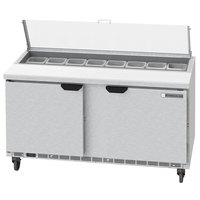 Beverage-Air SPED60HC-16-2-CL Elite Series 60 inch 2 Drawer Refrigerated Sandwich Prep Table with Clear Lid