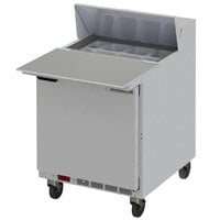 Beverage-Air SPE27HC-C Elite 27 inch 1 Door Refrigerated Sandwich Prep Table with 17 inch Deep Cutting Board