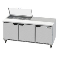 Beverage-Air SPED72HC-10-2-CL Elite Series 72 inch 2 Drawer Refrigerated Sandwich Prep Table with Clear Lid