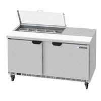 Beverage-Air SPED60HC-10-2-CL Elite Series 60 inch 2 Drawer Refrigerated Sandwich Prep Table with Clear Lid